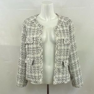 Cynthia Rowley Plaid Blazer / Jacket- L